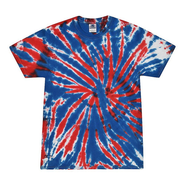 Tie Dye Shirt -UNION RED/WHITE/BLUE