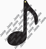 Acrylic - 8th Music note Key chain