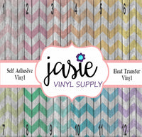 Wood Pastel Chevron Printed Vinyl