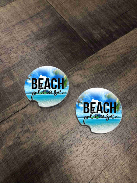 Car Coasters - Beach Please