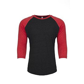 Unisex Raglan - Black/Red