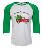 Christmas Red Truck Transfer- Bottom Merry Christmas