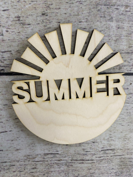 Sun Summer Watermelon - Wood Cutout