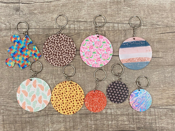 Patterned Keychains-