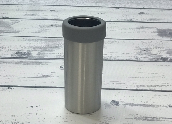 12 oz Can Cooler with grey rim