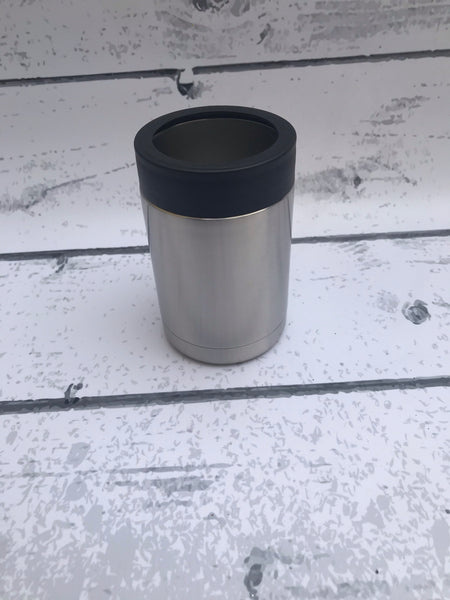 12 oz Can Cooler with black rim
