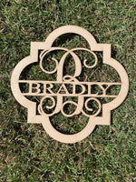 Quatrefoil Ornament - Last Name