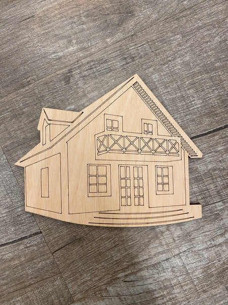 Wood Shape- House