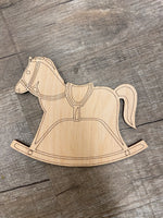 Wood Shape- Rocking Horse