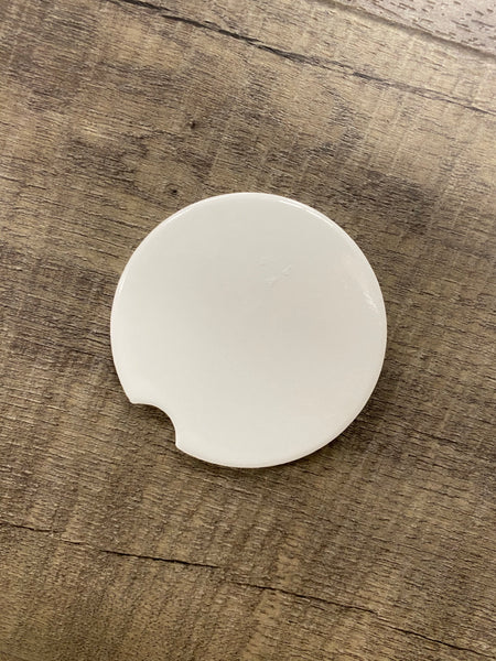 "Sublimation Blank Car Coaster - 2.56"" - Round w/Divot"