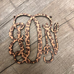 Patterned Car Charm Monogram