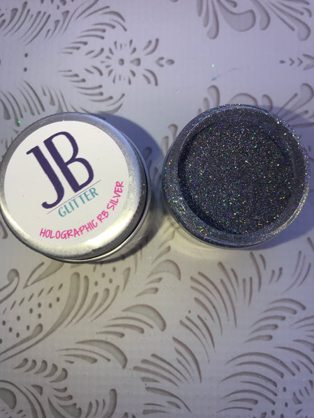Holographic Rainbow Silver glitter