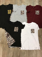 Pattern v-neck Shirts