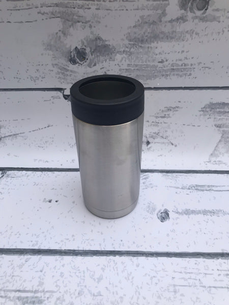 16 oz Can Cooler with black lid