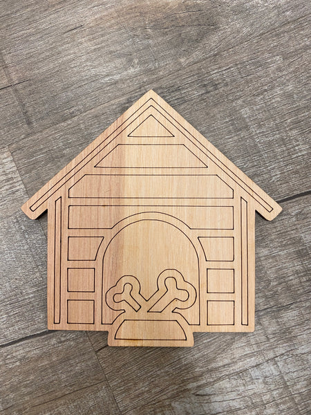 Wood Shape- Dog House