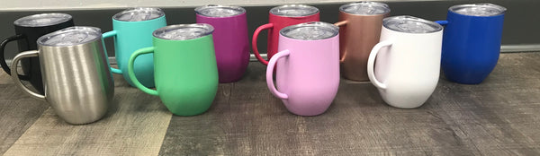 Colored Wine Cups with Handle