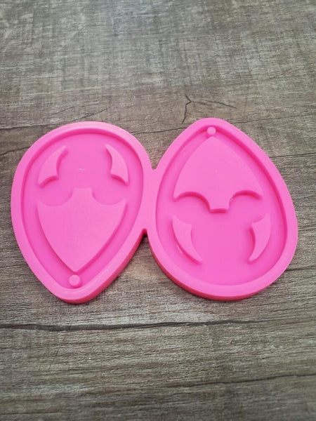 Mouse head earrings  Silicone Mold