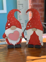 Valentine's Day Wood Gnome Set - unfinished