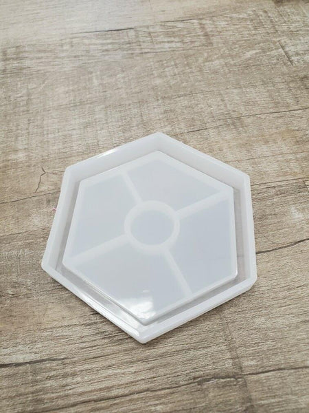 Hexagon coaster Silicone Mold