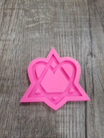 Heart with triangle silicone mold