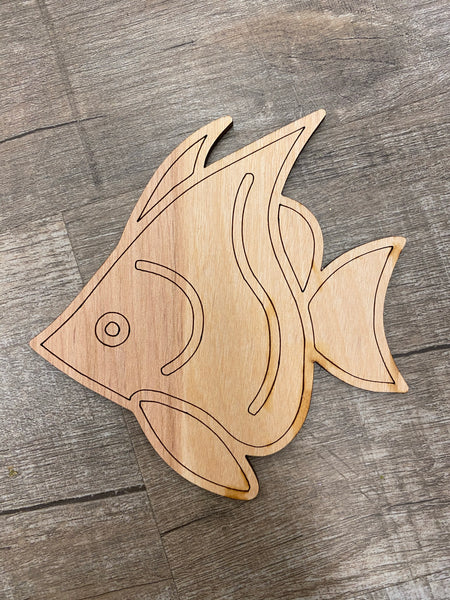 Wood Shape- Fish