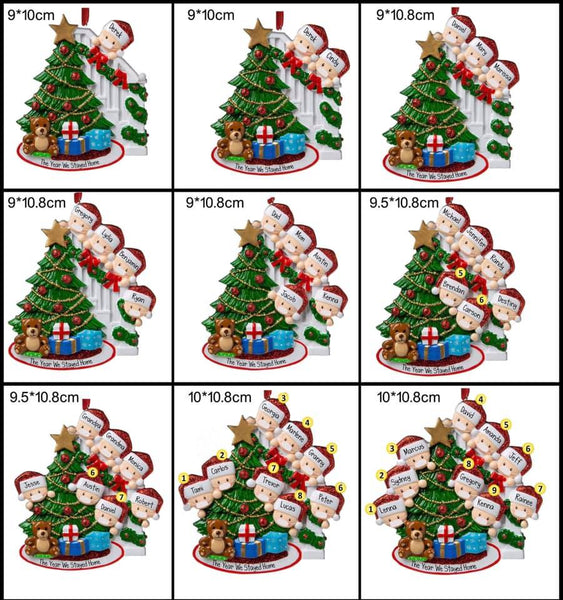 Chirstmas Tree Family Ornament