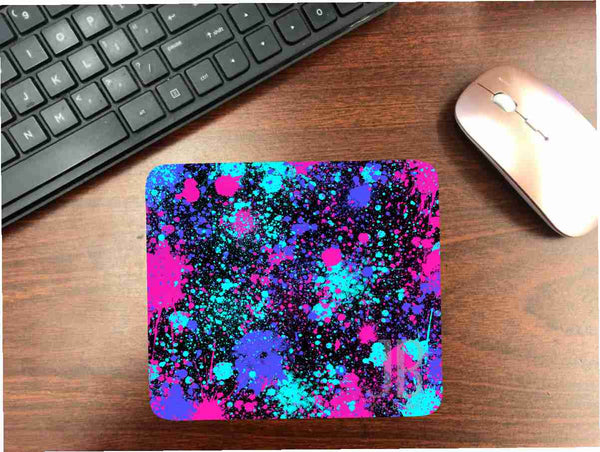Dark Paint Splatter Mouse Pad