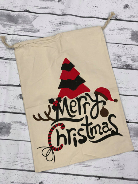 Tree Santa Sack - Merry Christmas
