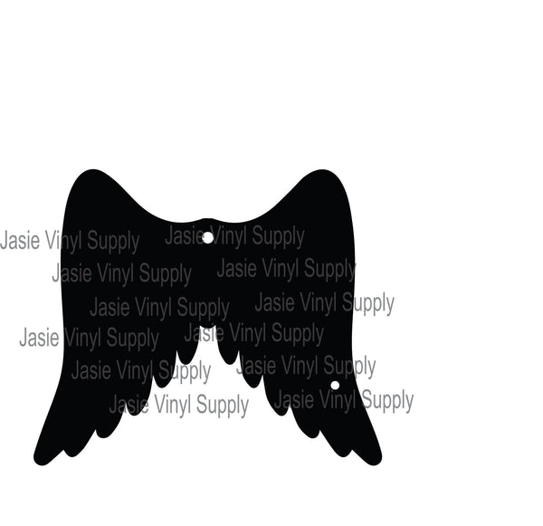 Acrylic - Angel Wings Keychain