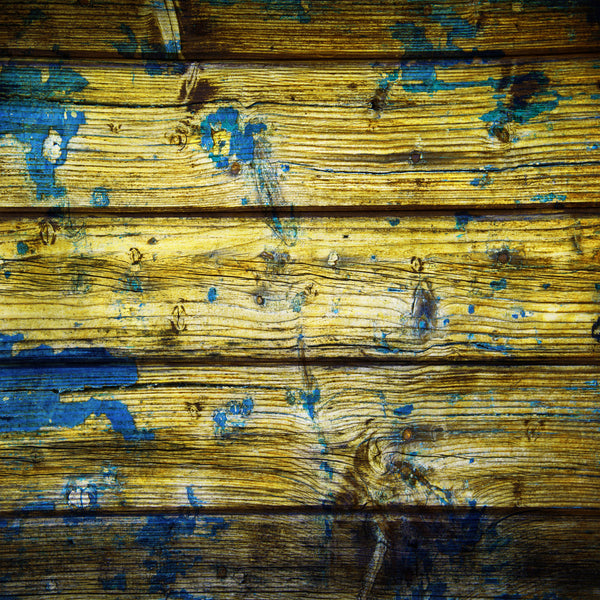 Distressed Wood #5 Yellow with Royal