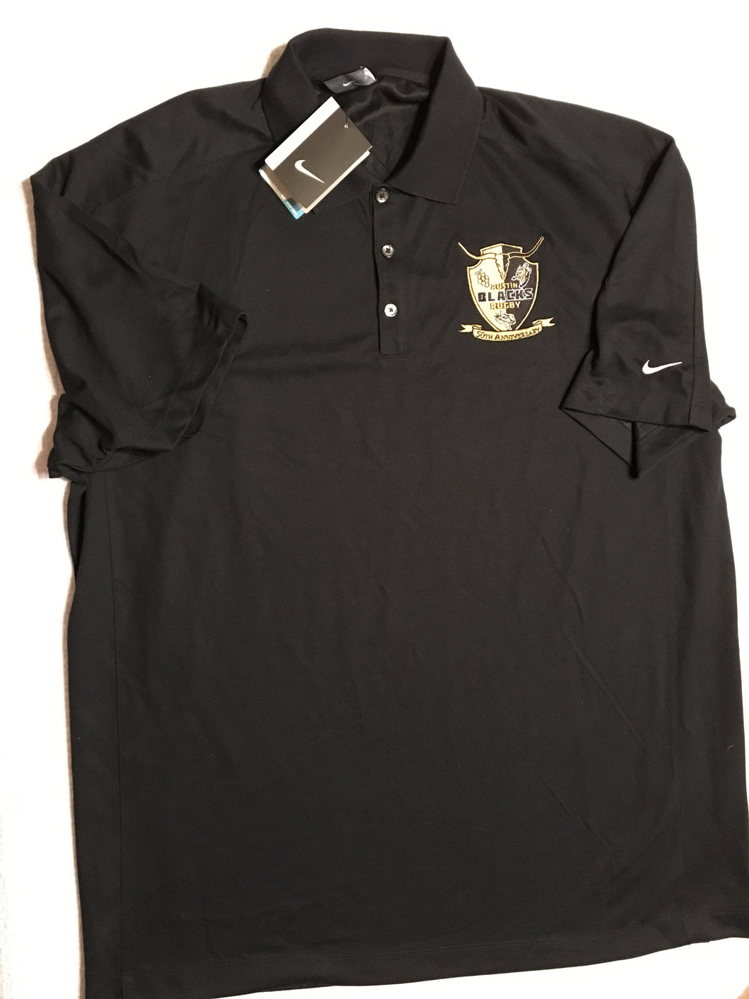 Black Nike 50th Anniversary Polo