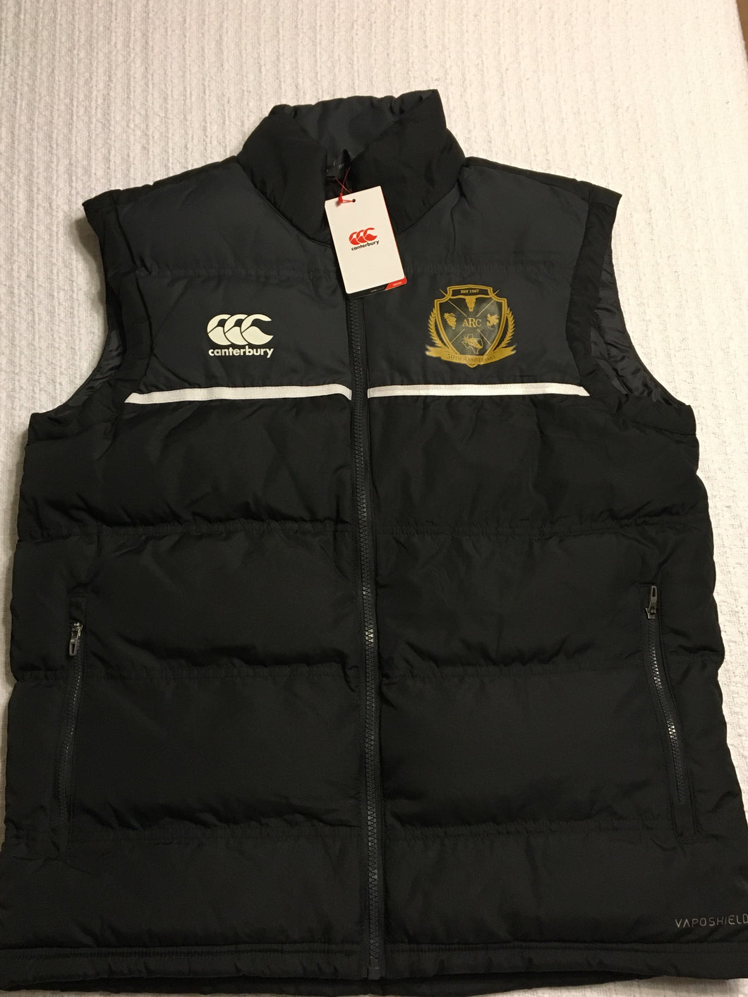 Black Canterbury 50th Anniversary Gilet (Puffy Vest)