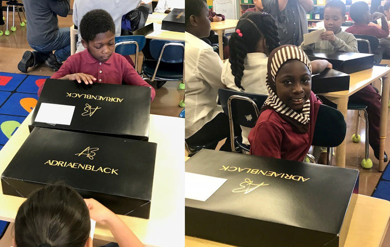 Designer delivers custom-made coats to Bronx students