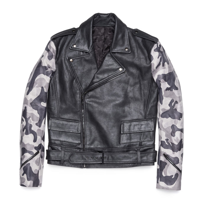 Anthony Camo Leather Jacket