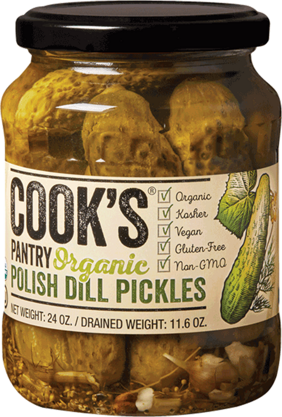 Cook's Pantry Organic Polish Dill Whole Pickles, 24 Oz (Case of 6)