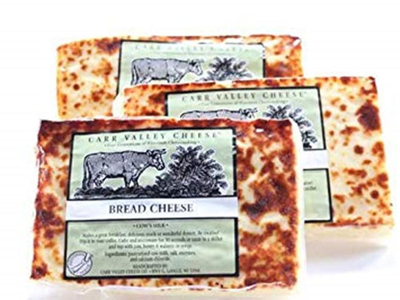 Carr Valley Bread Cheese, 10 Oz (Pack of 3)