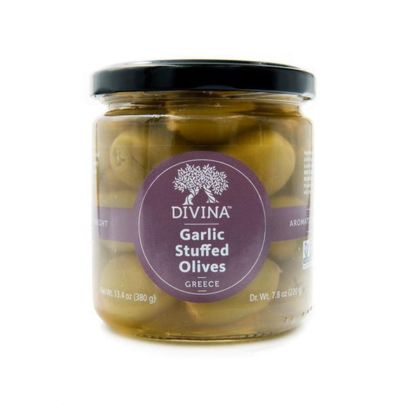 Divina Garlic Stuffed Olives, 7.8 oz.