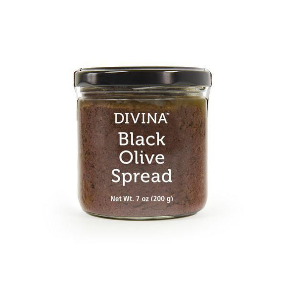 Divina Black Olive Spread, 7 Ounce