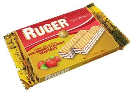 Ruger Austrian Strawberry Wafers, 2.125 oz.