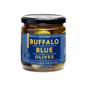 Divina Buffalo Blue Olives, 7.8 Oz.
