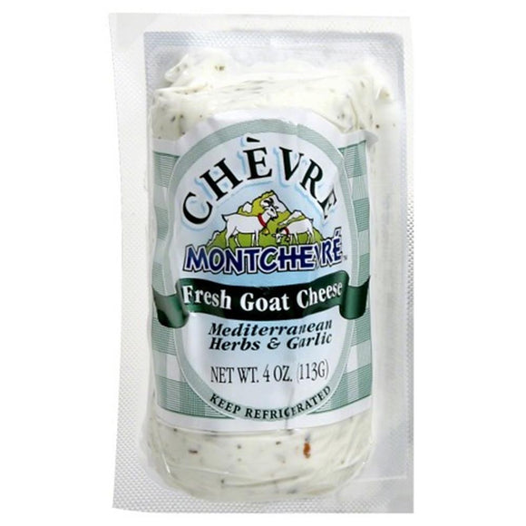 Montchevre Garlic And Herb Goat Log, 4 Oz (Pack of 3)
