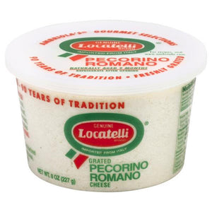Locatelli Grated Pecorino Romano, 8 Oz (Pack of 3)