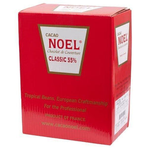 Noel Dark Chocolate Pistoles - Semisweet 55%, Classique - 1 box - 11 lb