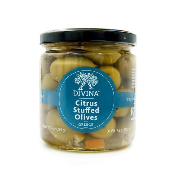 Divina Citrus Stuffed Olives, 7.7 oz.