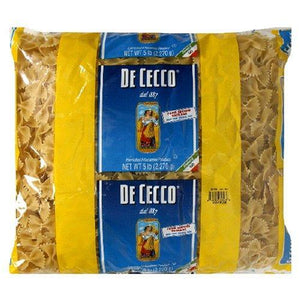 De Cecco Bulk Pasta, Farfalle, 5-Pound Packages (Pack of 4)