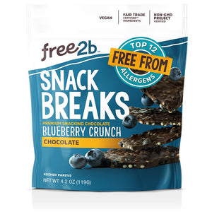 Free 2b Foods Chocolate Blueberry Crunch Snack Breaks, 4.2 oz. (Pack of 6)
