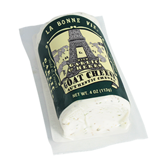 La Bonne Vie Garlic And Herb Goat Log, 4 Oz (Pack of 3)