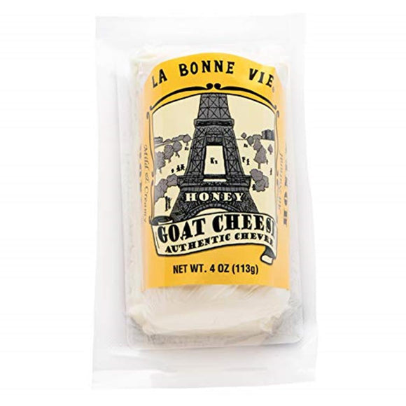 La Bonne Vie Honey Goat Log, 4 Oz (Pack of 3)