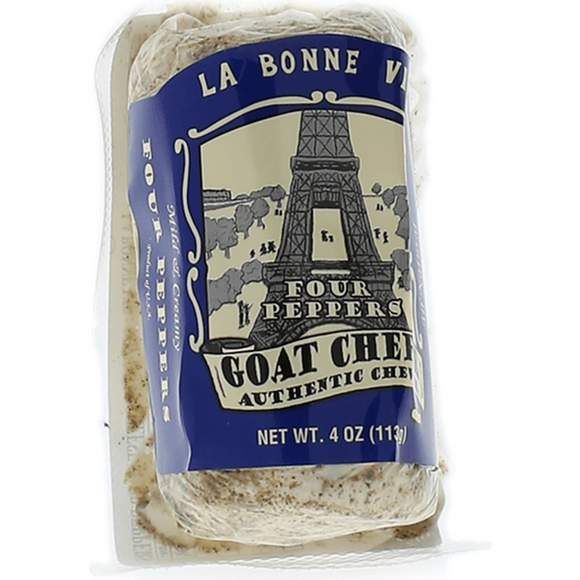 La Bonne Vie 4 Pepper Goat Log, 4 Oz (Pack of 3)