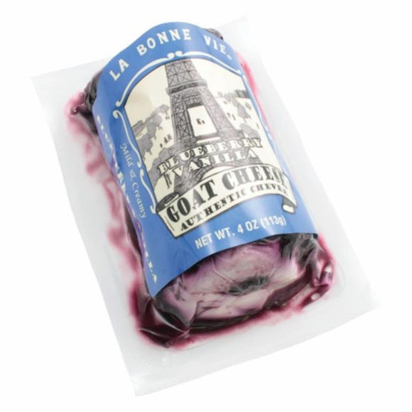 La Bonne Vie Blueberry Vanilla Goat Log, 4 Oz (Pack of 3)